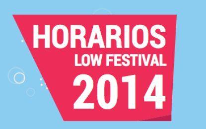 Disponibles los horarios del Low Festival