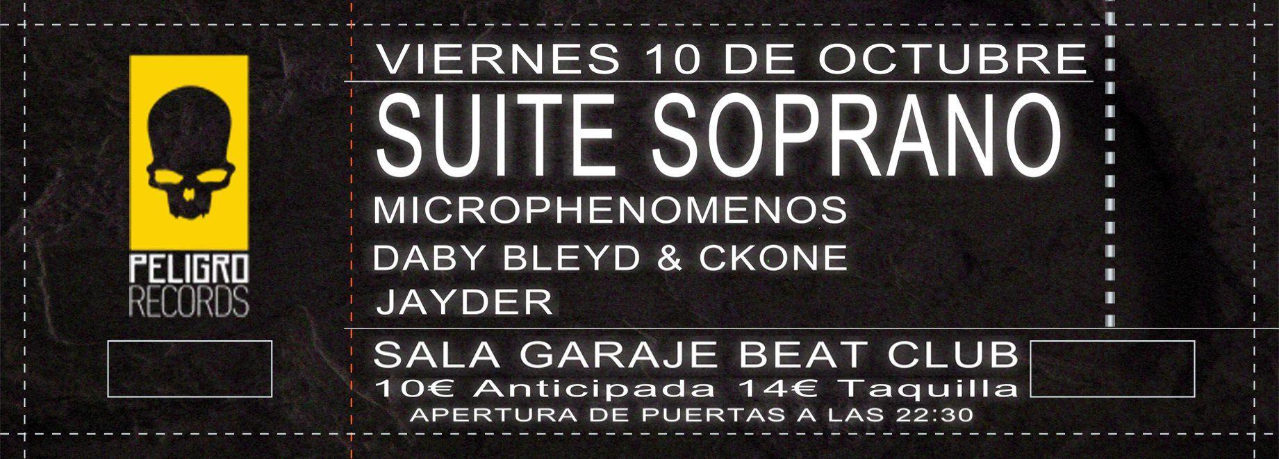 Suite Soprano en concierto junto a Microphenomenos, Daby Bleyd, Ckone y Jayder