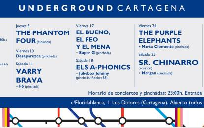 Programación de octubre en sala Underground Cartagena