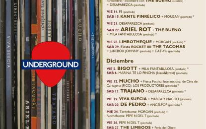 Programación Underground noviembre-diciembre