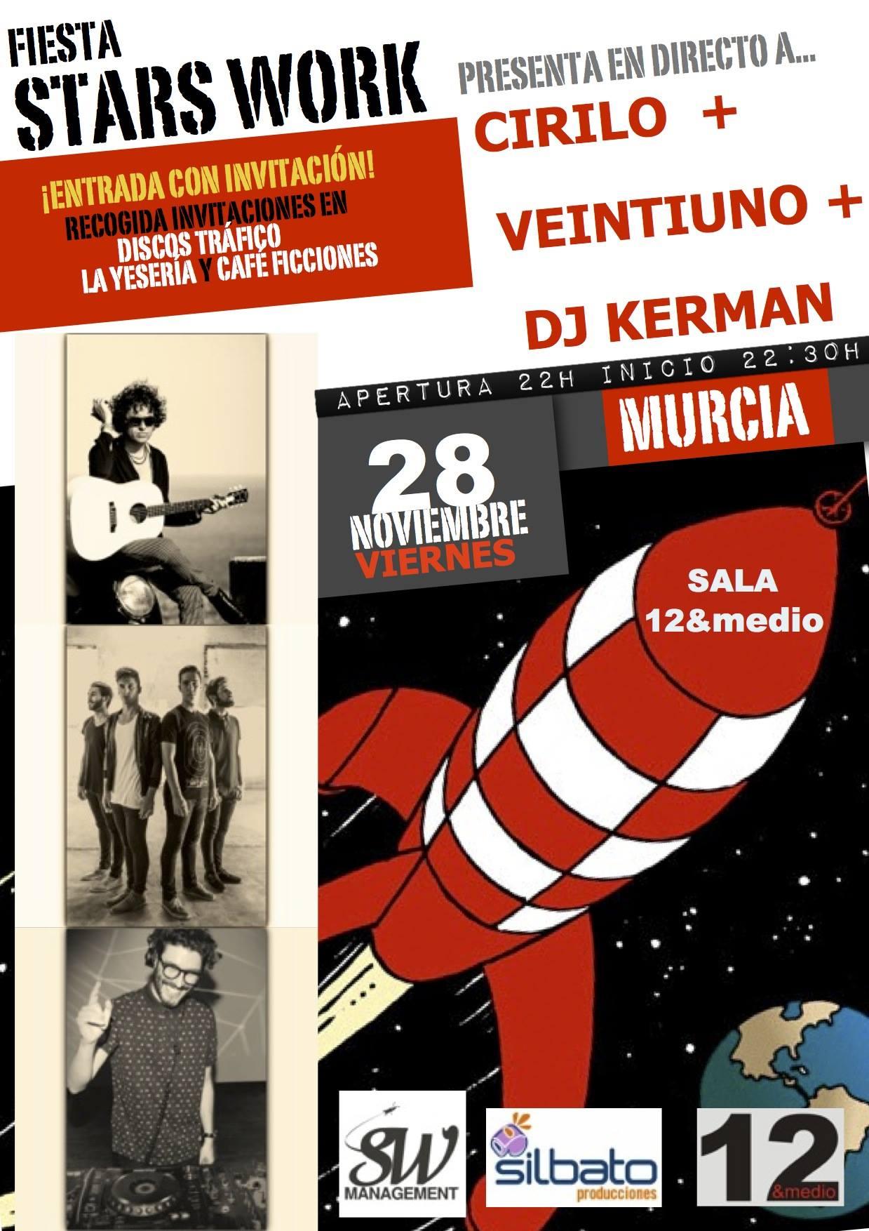 Fiesta Stars Work con Veintiuno y Cirilo en 12ymedio