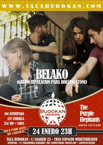 Belako + The Purple Elephants en Budokan