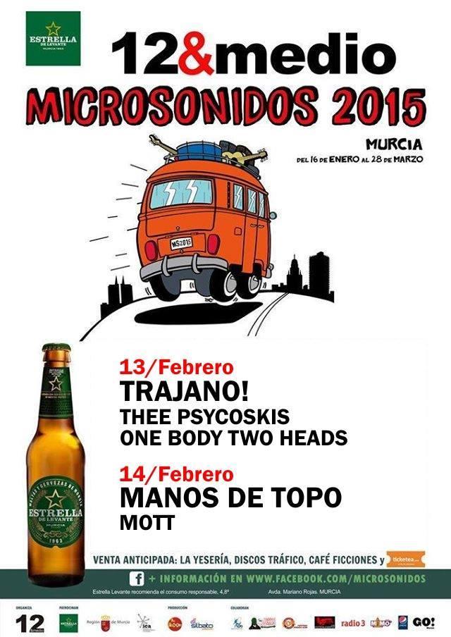 Microsonidos con Trajano! y Manos de Topo este fin de semana