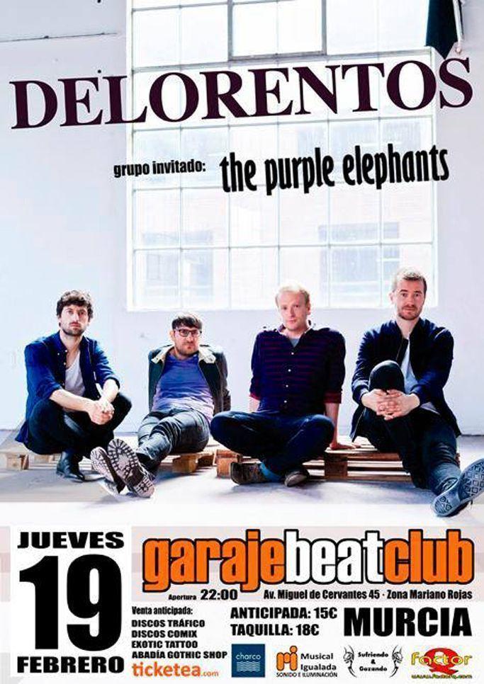 Delorentos + The Purple Elephants en Garaje Beat Club