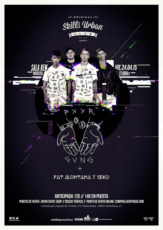 PXXR GVNG estará en Murcia con Fat Montana y Seko