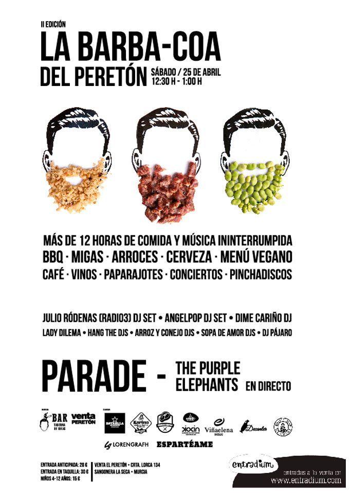 Parade, Julio Ródenas y The Purple Elephants en la segunda edición de La BARbacoa del Peretón