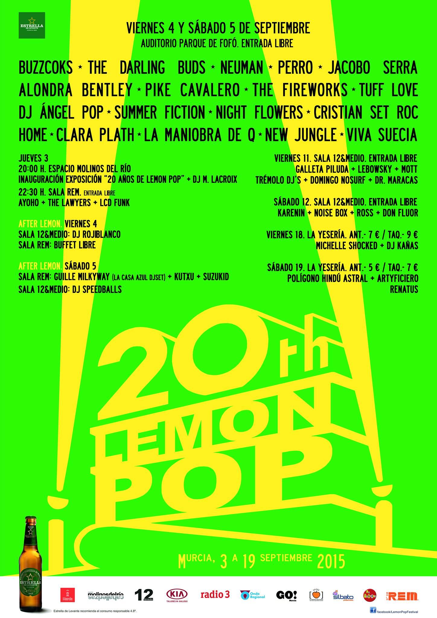 Lemon Pop Festival 2015: Cartel completo y horarios