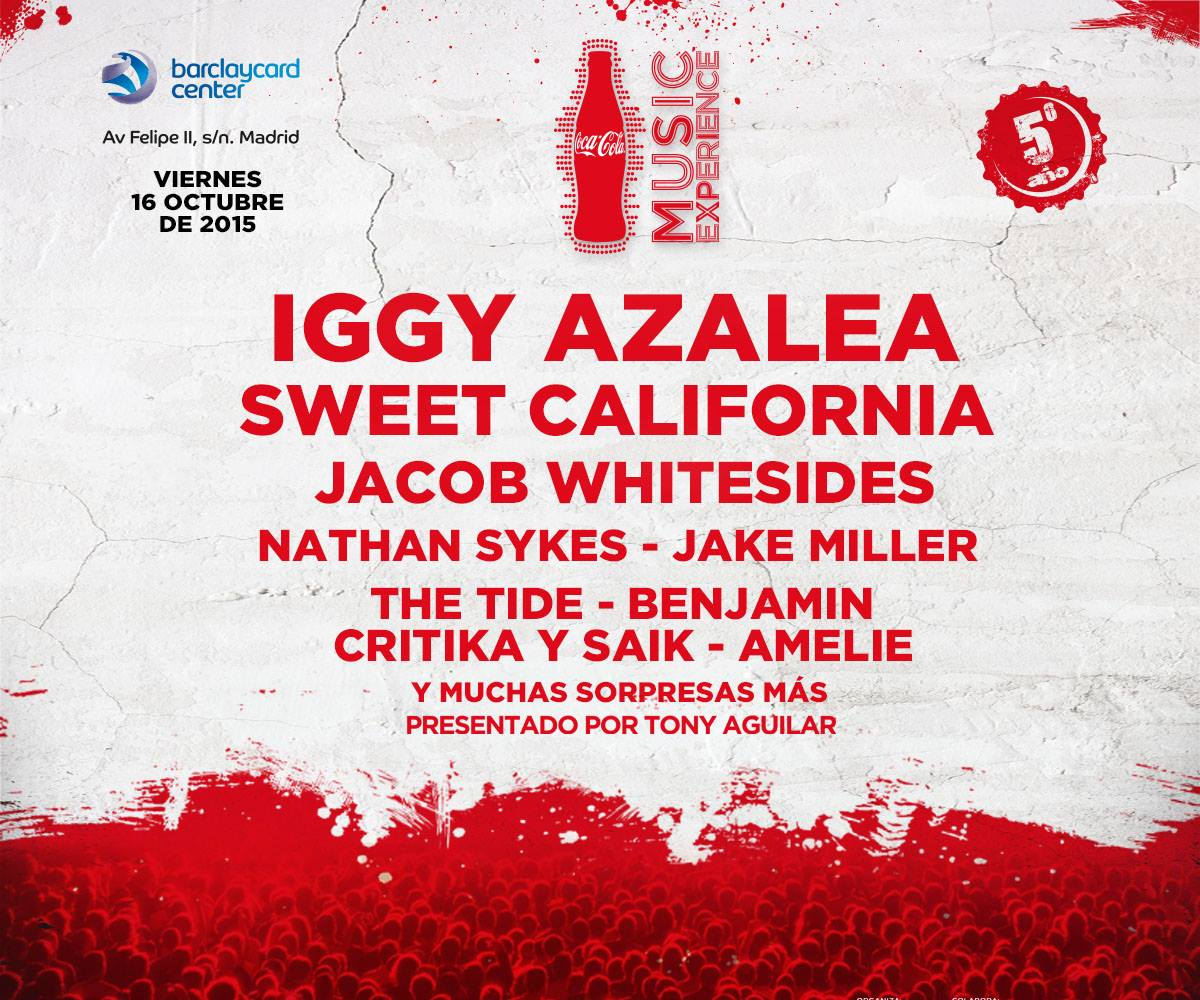 Coca Cola Music Experience 2015: Cartel