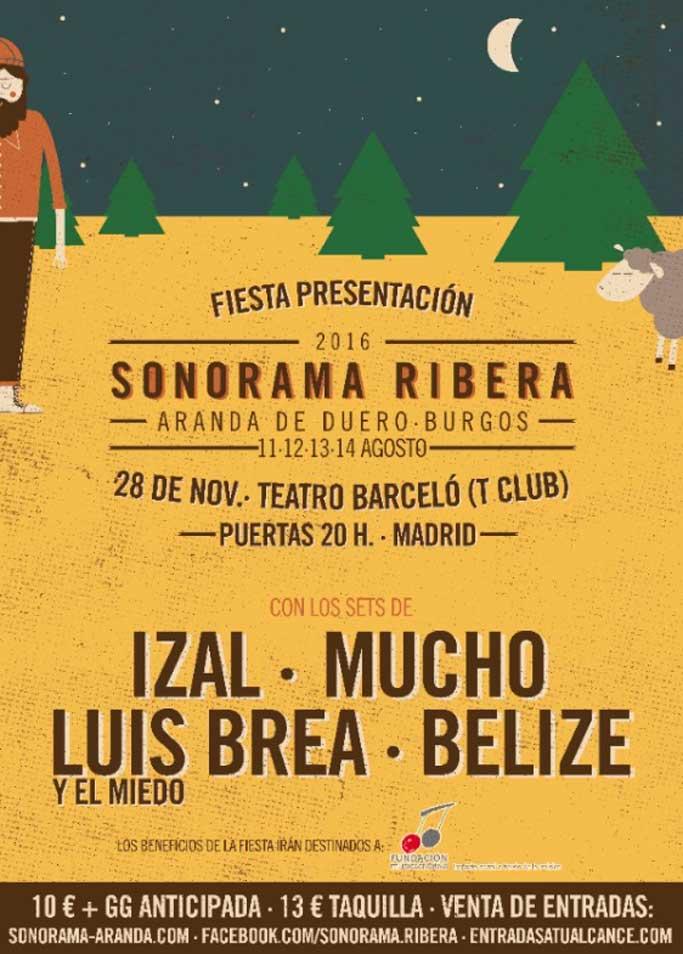 Sonorama Ribera 2016: Fiesta presentación en Madrid