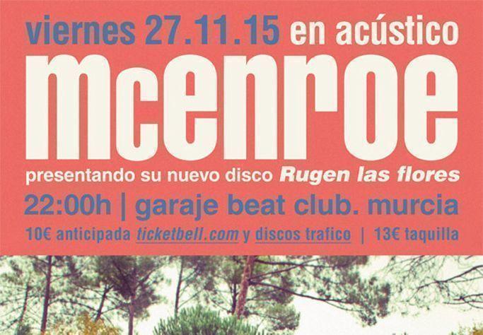 McEnroe y Viva Suecia en acústico en Garaje Beat Club