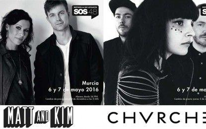 Matt & Kim y CHVRCHES, primeras confirmaciones internacionales del SOS 4.8