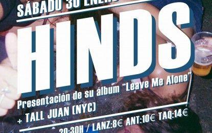 Hinds presentará su disco 'Leave Me Alone' el 30 de enero en Ochoymedio
