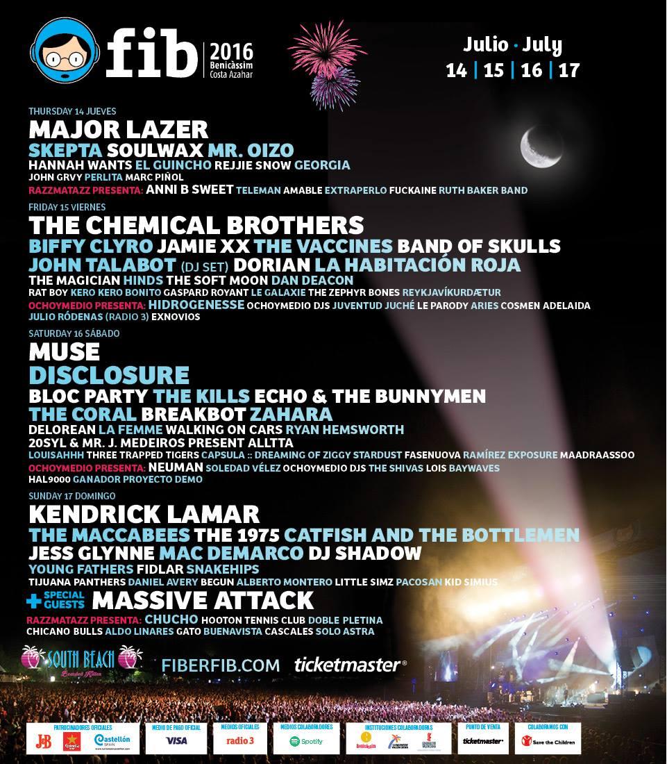 FIB Benicàssim Festival 2016: Confirmaciones y entradas