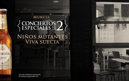 """Niños Mutantes y Viva Suecia actuarán mañana en Murcia en los """"Conciertos Especiales de las 2"""""""