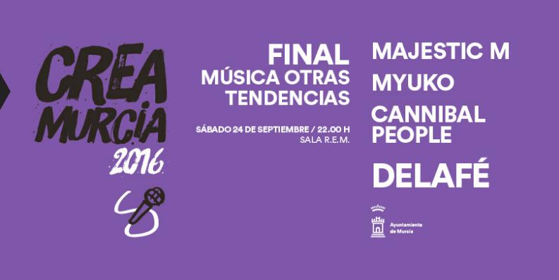 La final del Crea Murcia Otras Tendencias contará con la actuación de Delafé