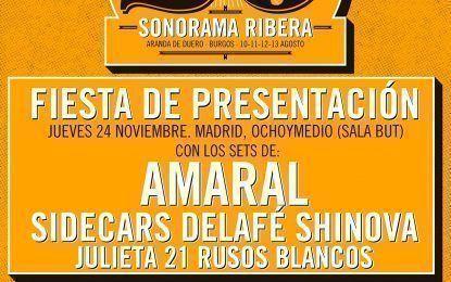 Fiesta presentación 20º Sonorama Ribera en Ochoymedio el 24 de noviembre
