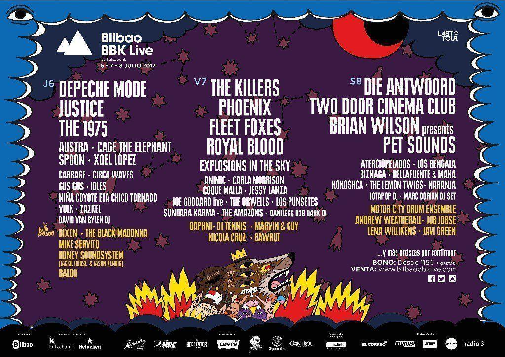 Bilbao BBK 2017: Confirmados y entradas