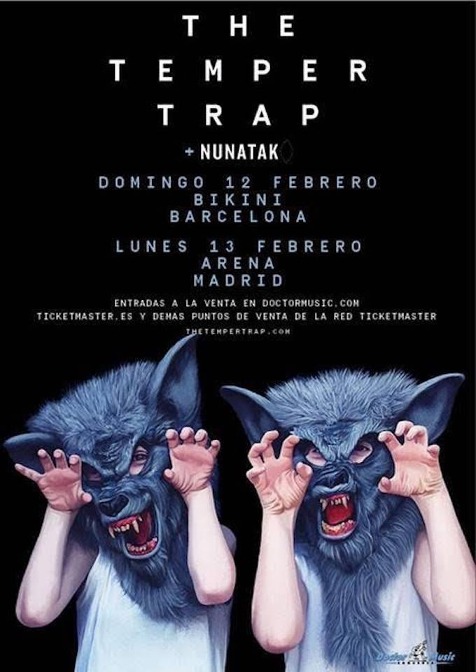 The Temper Trap estará en España y Nunatak será el artista invitado