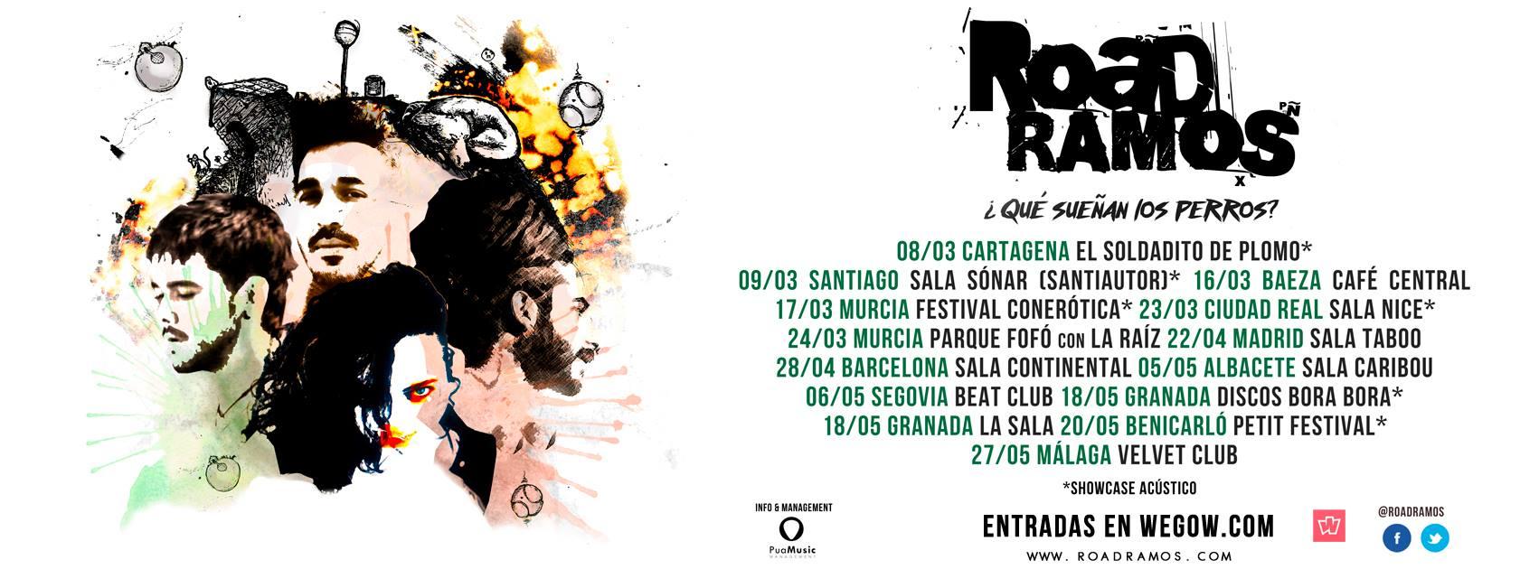 Road Ramos presenta su nuevo disco '¿Qué sueñan los perros?' y anuncia gira