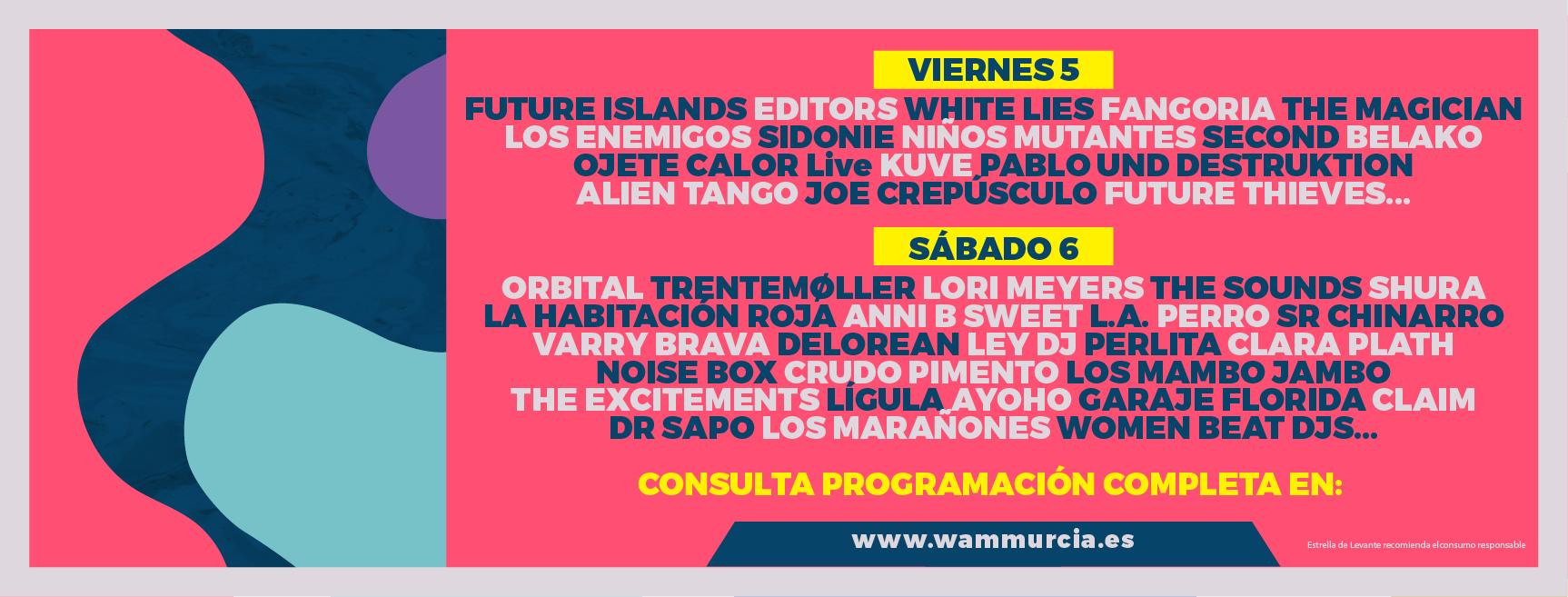 WAM Estrella de Levante 2017: Confirmados y entradas