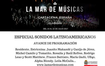 La Mar de Músicas avanza cartel y trae como invitado al sonido de América Latina