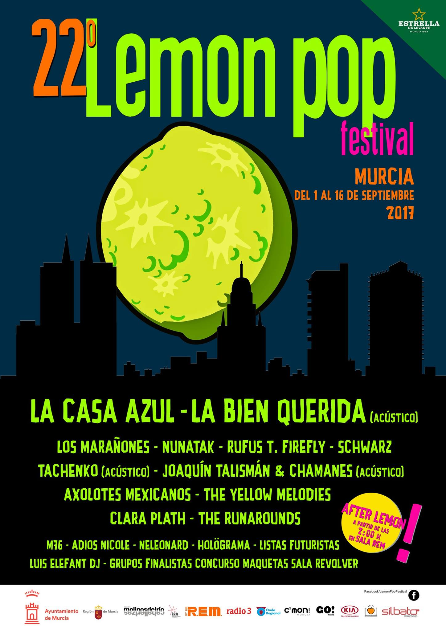 Lemon Pop 2017 del 1 al 16 de septiembre 🍋🎸🎶