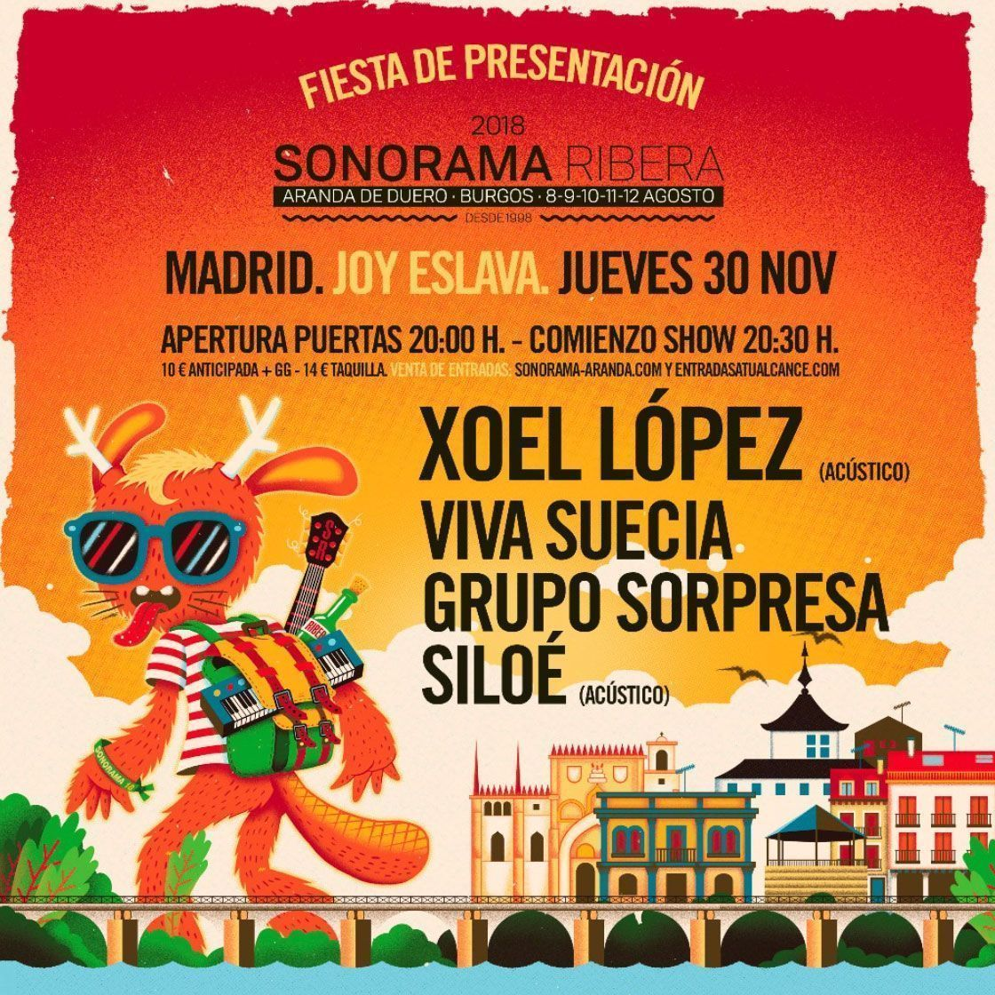 El Sonorama Ribera 2018 se presenta el 30 de noviembre en la sala Joy Eslava de Madrid
