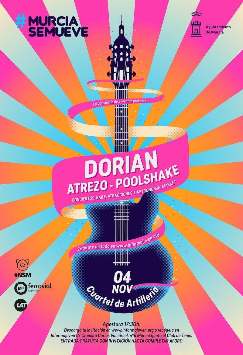 Murcia Se Mueve el 4 de noviembre con Dorian, Atrezo y Poolshake