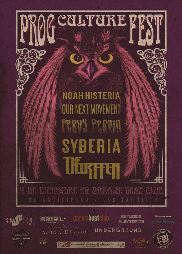Prog Culture Fest en Murcia el 9 de diciembre