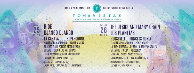 Tomavistas 2018: Confirmaciones y entradas