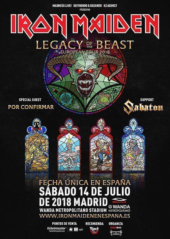 Iron Maiden estará en España en 2018 con un único concierto en Madrid