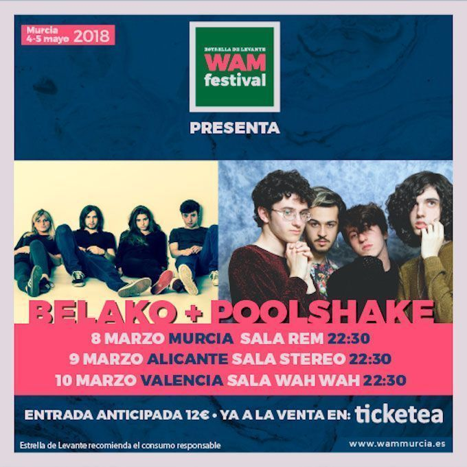 Belako presentarán su nuevo disco en Valencia, Alicante y Murcia de la mano de WAM Estrella de Levante