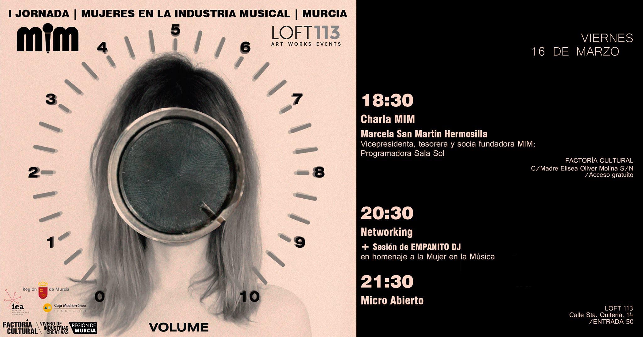Llega a Murcia la I Jornada sobre Mujeres en la Industria Musical