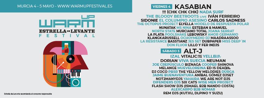 WARM Estrella de Levante 2018: Confirmaciones y entradas