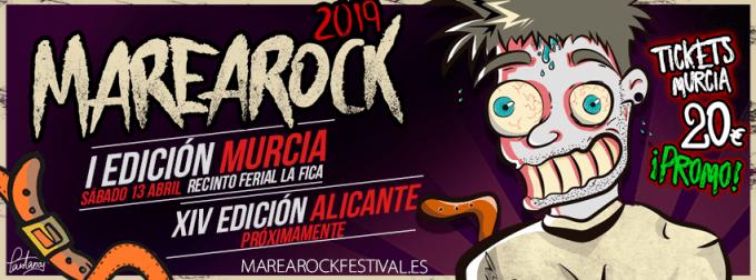 El MareaRock celebra su primera edición en Murcia el 13 de abril en La Fica