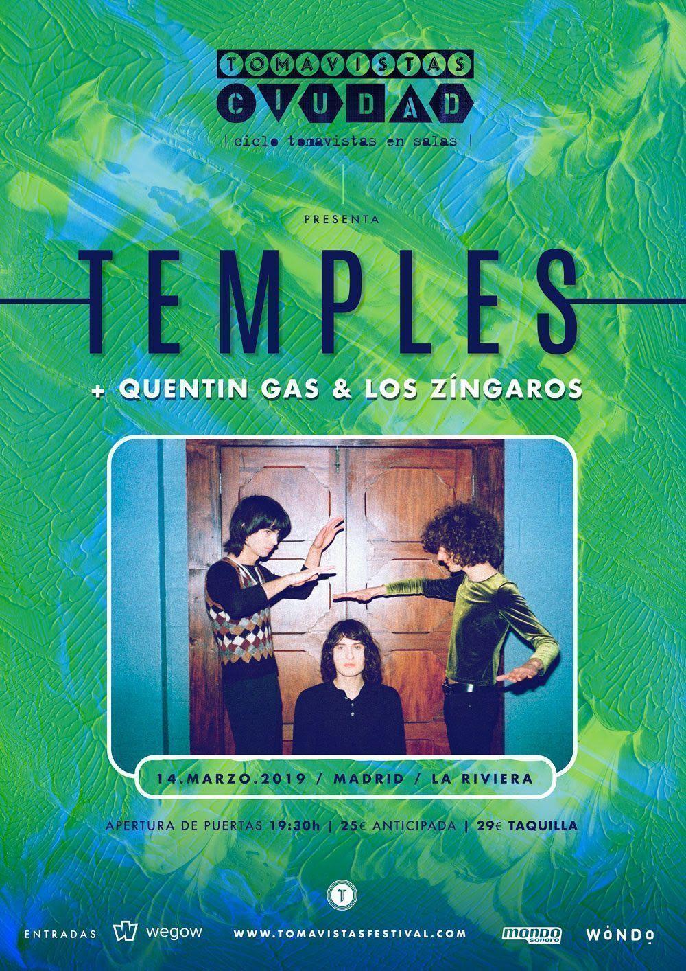 Temples actuarán en Madrid. Cierre espectacular para esta temporada del Tomavistas Ciudad