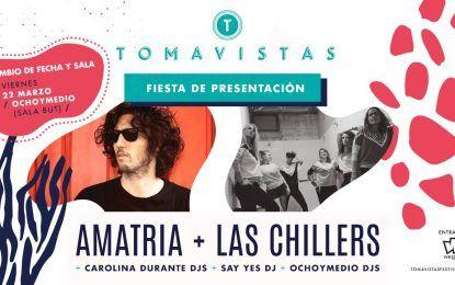 Amatria y Las Chillers en la fiesta de presentación del Tomavistas 2019