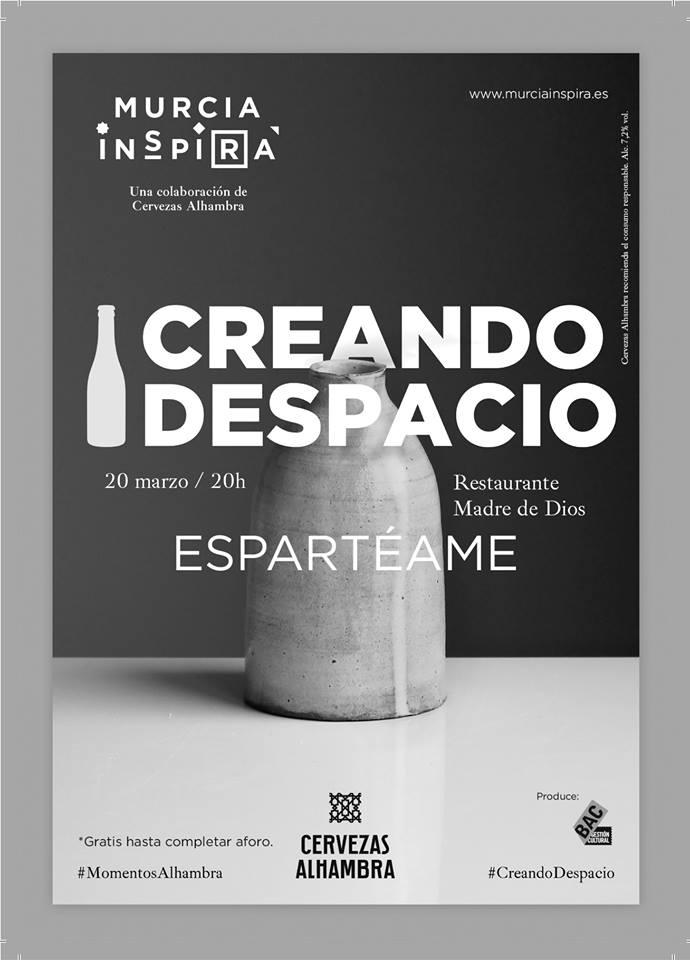 El esparto protagoniza la segunda edición de Creando Despacio, la iniciativa de Murcia Inspira y Cervezas Alhambra
