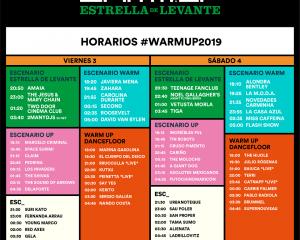 WARM UP Estrella de Levante 2019 presenta sus horarios