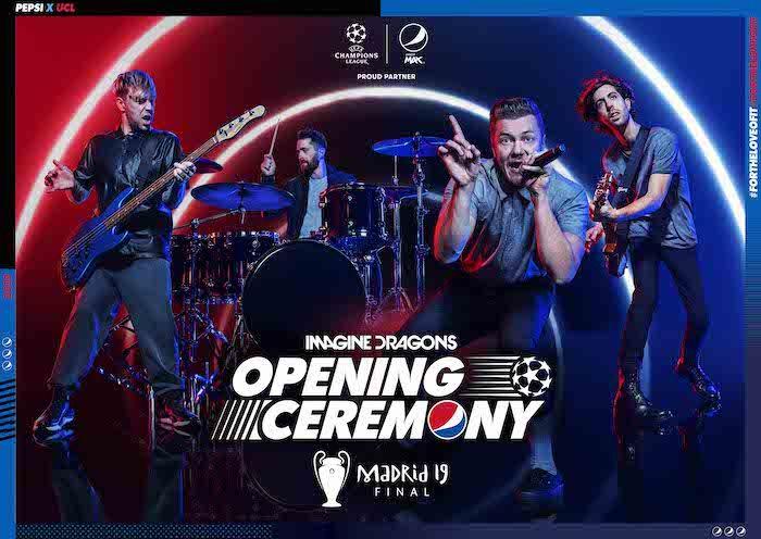 Imagine Dragons protagonizará la ceremonia inaugural de la final de la UEFA Champios League