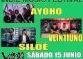 El 15 de junio Veintiuno, Siloé y Ayoho en el Vaca Pop