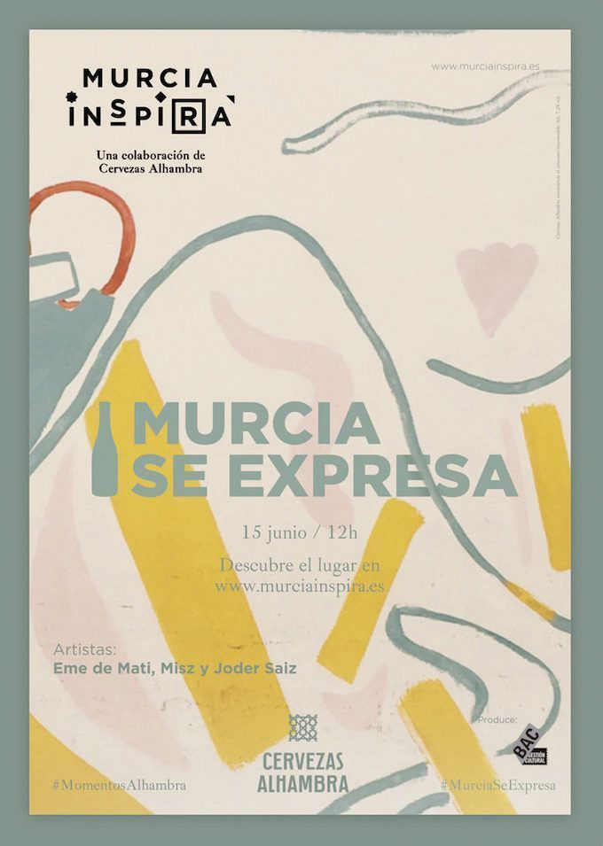 En la nueva edición de Murcia se Expresa, pintarán en directo Misz, Joder Saiz y Eme