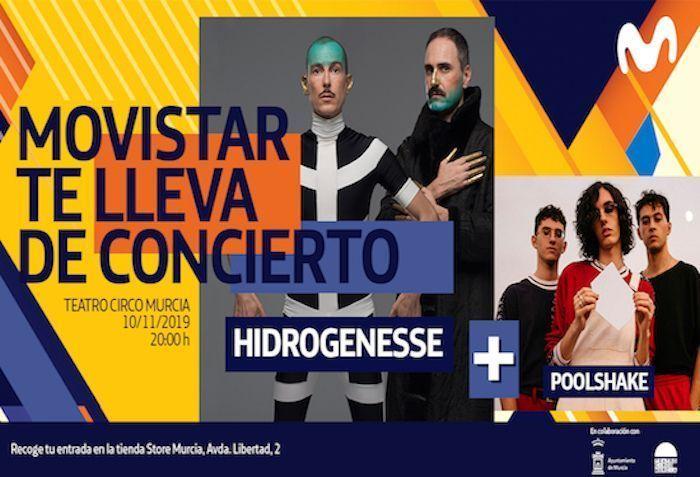 Hidrogenesse y Poolshake en concierto en Teatro Circo el 10 de noviembre