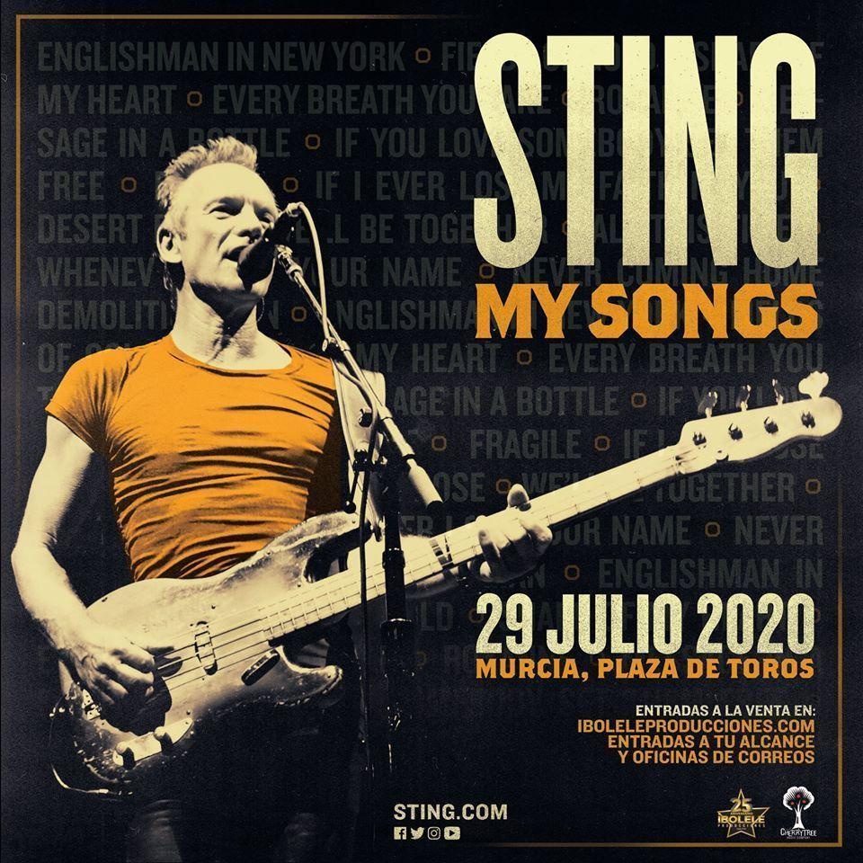 Sting estará en Murcia el 29 de julio de 2020