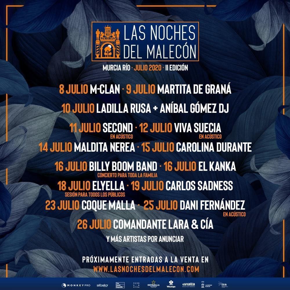 Vuelven los conciertos a Murcia con Las Noches del Malecón
