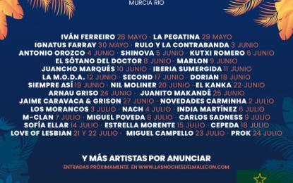 Las Noches del Malecón vuelve a Murcia con más de treinta artistas confirmados