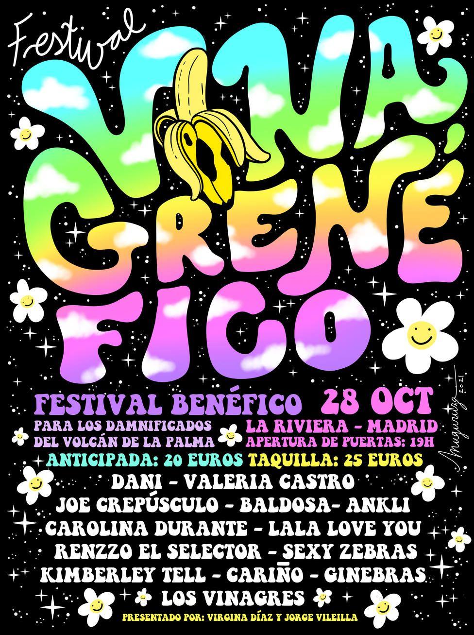 Vinagrenéfico, el festival para apoyar a La Palma llega a Madrid